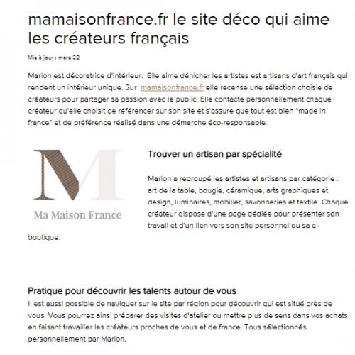 #MaMaisonFrance